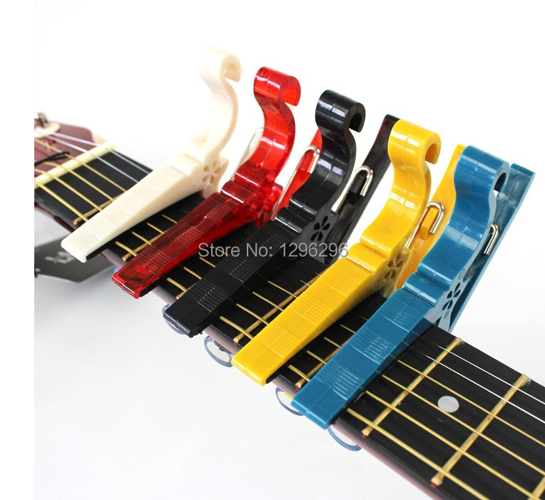 free shipping 1pcs Cheap guitar tone plastic clip Especially in the kerry plastic clip tone sandhi capo mobile clip(China (Mainland))