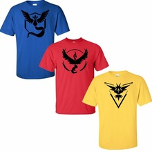 Print Pokemon Go Team Valor Team Mystic Team Instinct Pokeball T shirt Red Blue Yellow Women Summer Dress Plus Size