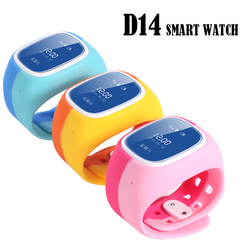 New D14 Children Safe Smart Watch Support Location Tracker Remote Monitor Mobile China Unicom GSM nano-sim card for IOS Android(China (Mainland))