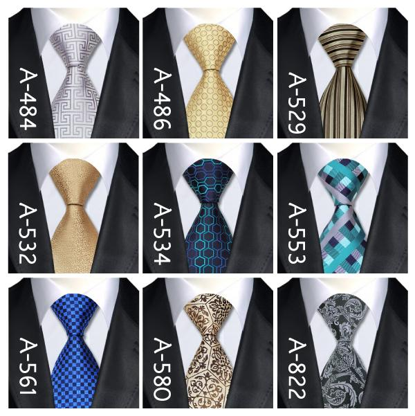 2015 New Fashion Tie 40 Style 100 Silk Jacquard Necktie Business Wedding Party Ties For Men