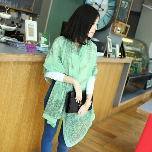2015 Spring New Style Fashion Vintage Scarves Wraps Chiffon And Cotton Silk Scarf Shawl Clothing For