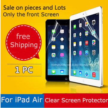 cheap good quality hd front clear protetive film for ipad air screen protector( ipad 5) strong carton pack & can check online(China (Mainland))