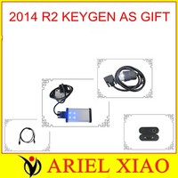 LED on obdii connector  2014 R2 KEYGEN AS GIFT CAR+TRUCK+Generic 3 in1 TCS ( TRUCK CAR SCANNER)scanner cdp pro plus