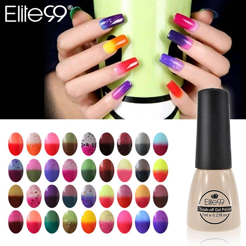 Elite99 7ml Color Changing Nail Polish Chameleon Gel Need UV Lamp Curing 96 Color Art Gel To Pick 1 For Nail Art DIY Decoration(China (Mainland))