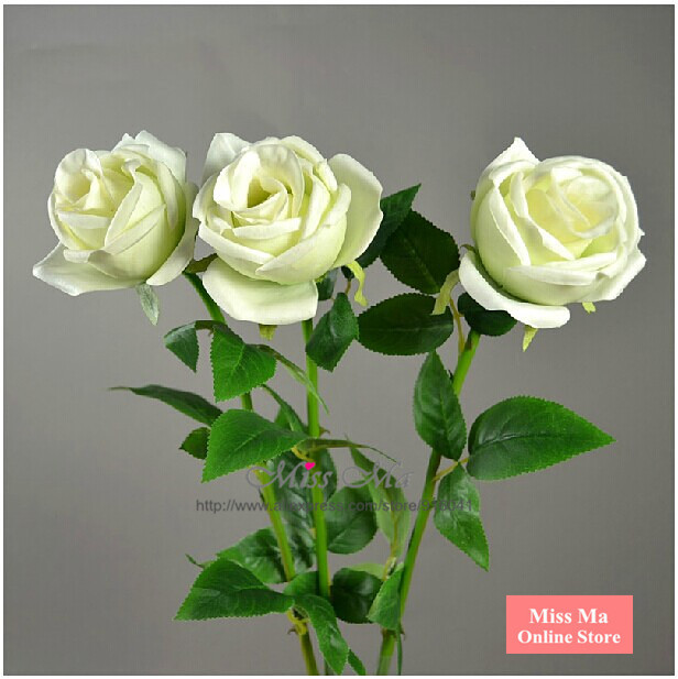 """10pcs/Lot White 30"""" Foam Rose Real Touch Rose Home Flower Artificial Flower Wedding Flower Peony Party Hotel Event Free Shipping(China (Mainland))"""