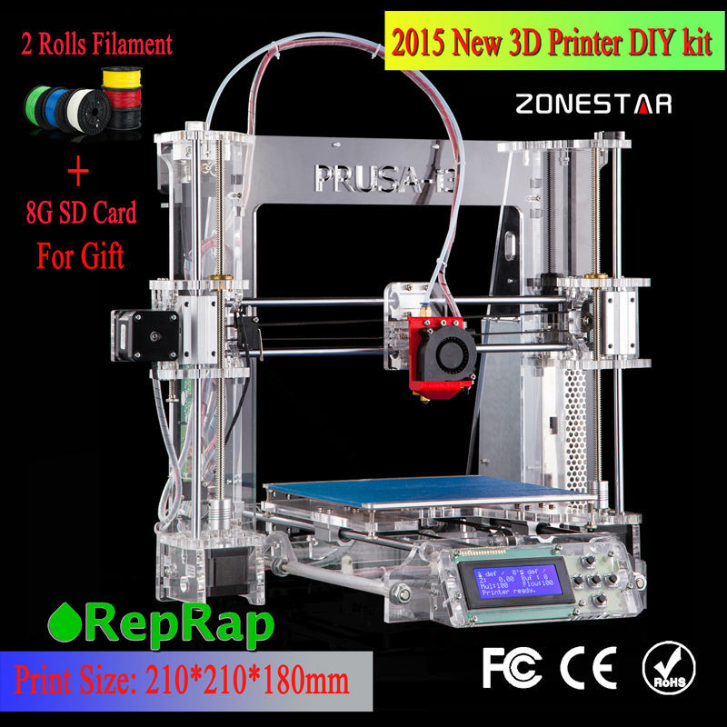 100 Brand new Model Upgraded Prusa i3 DIY 3d Printer kit P802 High Precision Reprap kits