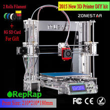 100% Brand new Model Upgraded Prusa i3 DIY 3d Printer High Precision Reprap kit Bowden design extruder free shipping