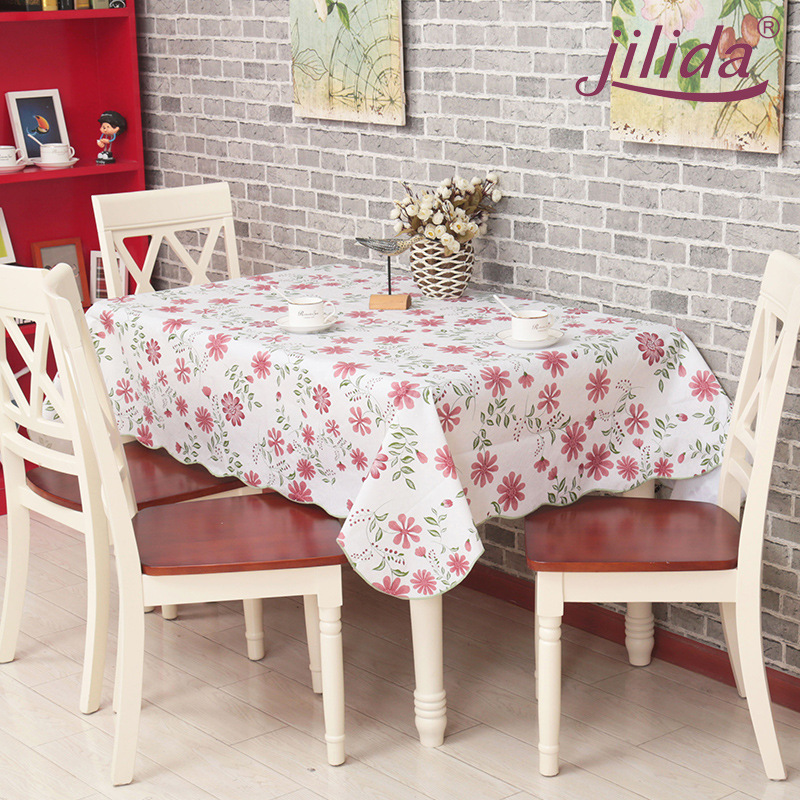 New PVC waterproof series creative flower Table Cloth for Dinning Table / Leisure Country Life Tablecloth for Tea Tables(China (Mainland))