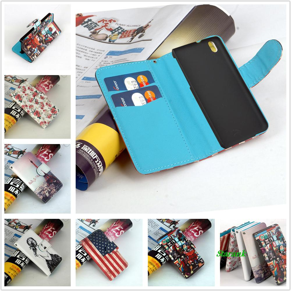 Tiger Pattern Leather Flip Wallet Case for HTC Desire 816 800 D816W Phone Cover with Card Holder free shipping(China (Mainland))