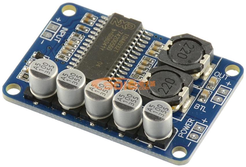 High quality DC24V power supply 35W single sound track minitype TDA8932 BTL D Class Digital power amplifier board module(China (Mainland))