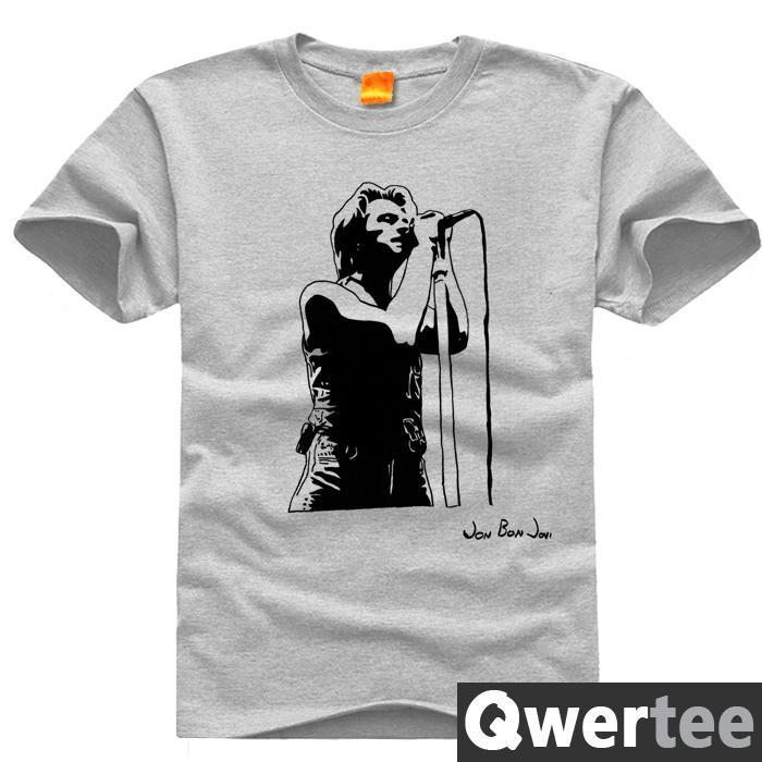 Bon Jovi Jon Have a nice day Christmas Print Fashion Free Shipping Original Design Cotton Casual Tshirt T shirt TEE(China (Mainland))