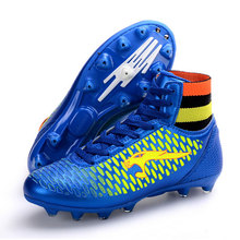 Mens High Ankle Soccer Shoes AG Football Boots for Boys Sport Trainers Soccer Cleats Football Sock Boots size 33~44 816