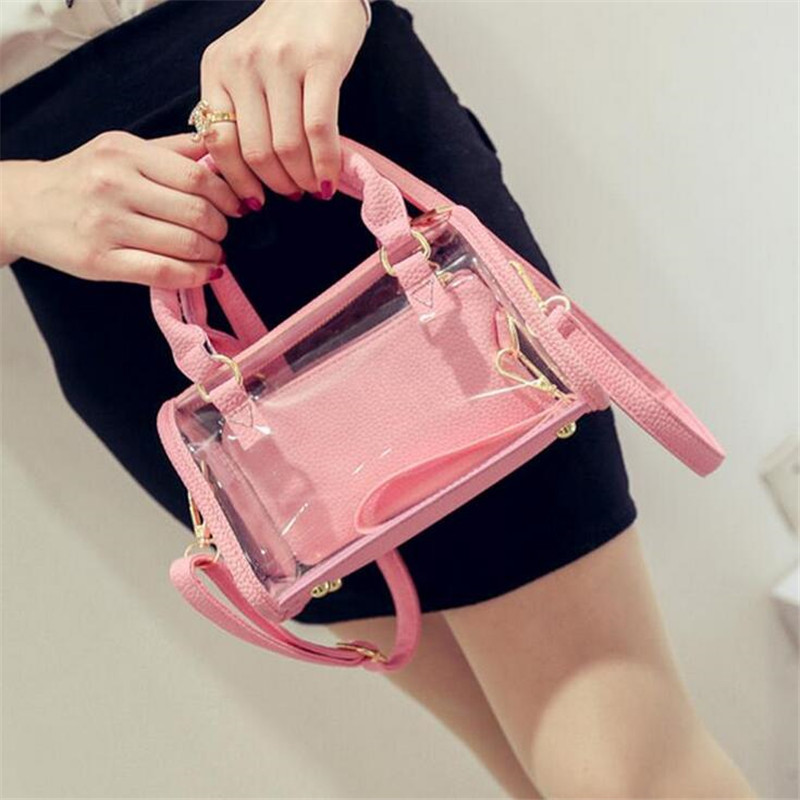 2016 new wild transparent bag beach bags fashion star Ms. Messenger bag fashion shoulder clutch hot free shipping(China (Mainland))