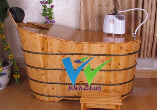 wooden bathtub with cap(China (Mainland))