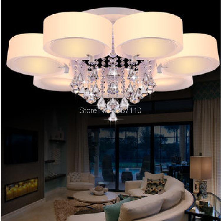 Modern Indoor Ceiling Lights : Modern e living room crystal ceiling light simple design