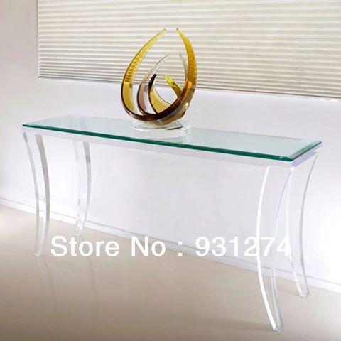 bureau console plexiglass