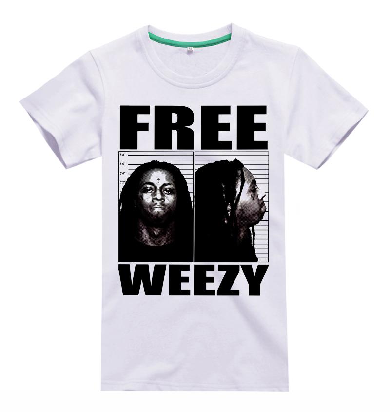 Free shipping 2014 LIL WAYNE hip hop style rock music white T-shirt(China (Mainland))