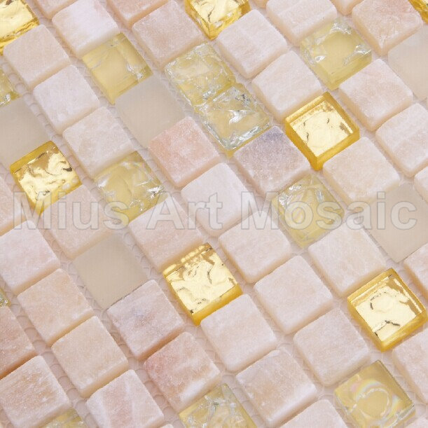 [Mius Art Mosaic]  Pure gold glass mosaic Bisazaa tile stone mosaic A5TC-1302<br><br>Aliexpress