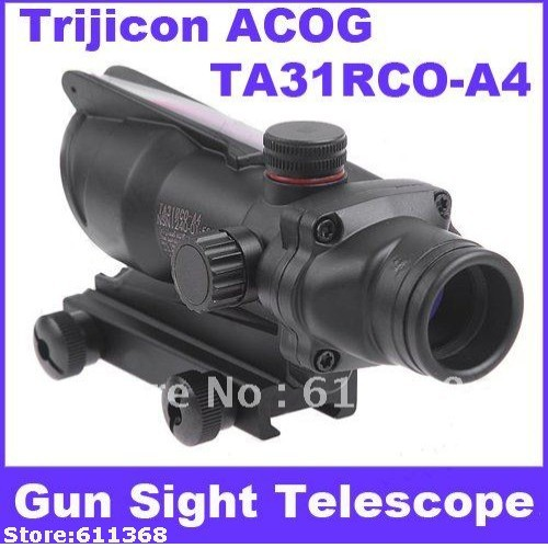 Trijicon ACOG TA31RCO-A4 NSN1240-01-525-1 Rifle Scope Aiming Rule Sight Telescope with Gun Mount& Cloth