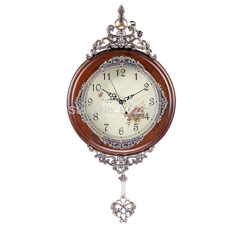 Orologio da parete in legno massello vintage muro orologio - Orologi da parete stile country ...