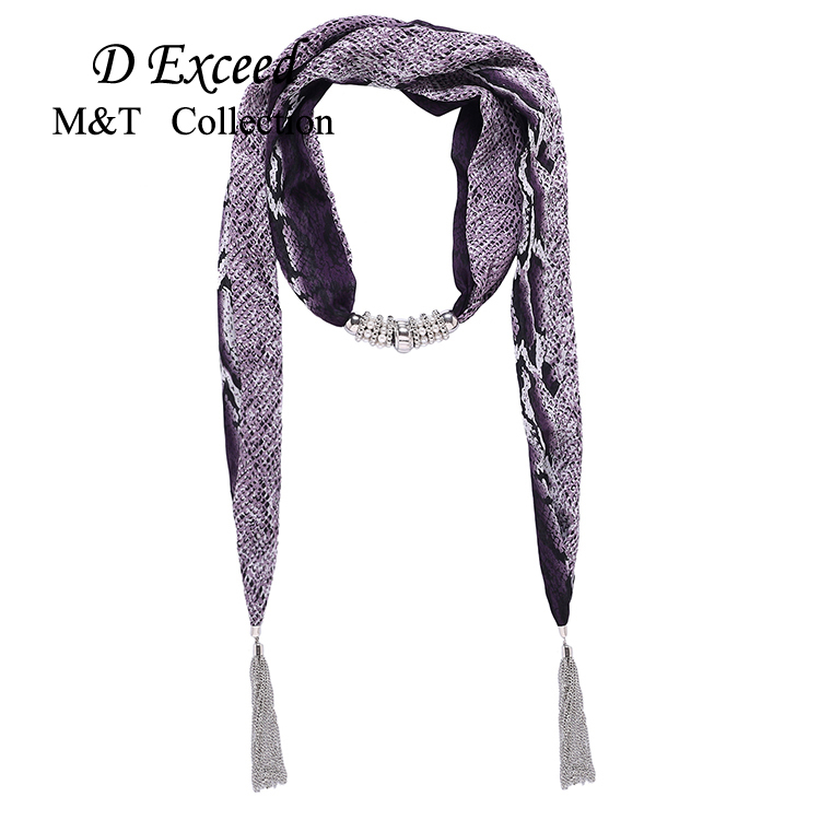 D Exceed Brand New 2015 Designer Women Scarf Summer Style Snake Pattern Chiffon Scarves Pendant Necklace Scarf(China (Mainland))