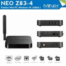 Buy MINIX NEO Z83 4 Fanless Mini PC Intel x5-Z8300 TV Box 64bit Windows 10 Dual Band WiFi 2.4GHz + 5GHz Bluetooth 4.2 Media Player for $179.90 in AliExpress store