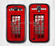 High quality Vintage London Telephone Box Hard Black Hard Case Cover For Samsung Galaxy S3 S4 S5