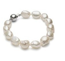 Free shipping Chunky Pearl Jewelry Bracelet 9-10mm Baroque Pearl Bracelet Christmas Braclet Gift(China (Mainland))