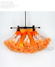 New Year Girl Ballet Tutu skirts  Orange Leopard Print Kids Pettiskirt Wholesale Baby's Party Skirts 5PCS/LOT TS21011-03^^EI(Hong Kong)