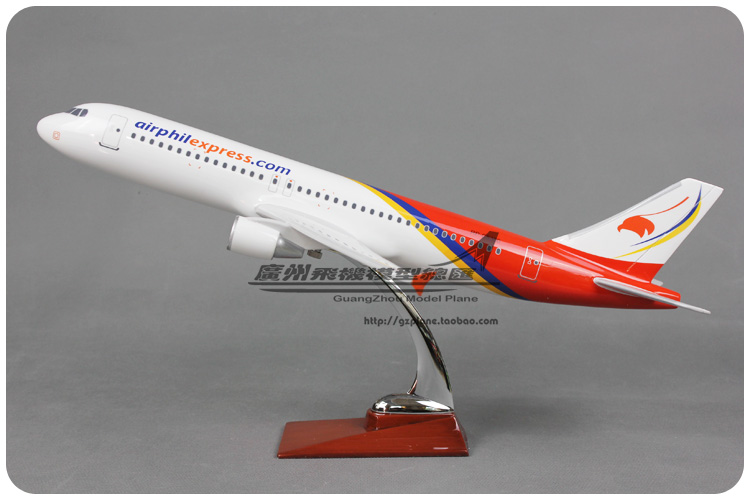 47cm Resin Air Airphil Express Airways Airbus A320 Airlines Plane Model Airplane Model Toy Collections Decoration Gift(China (Mainland))