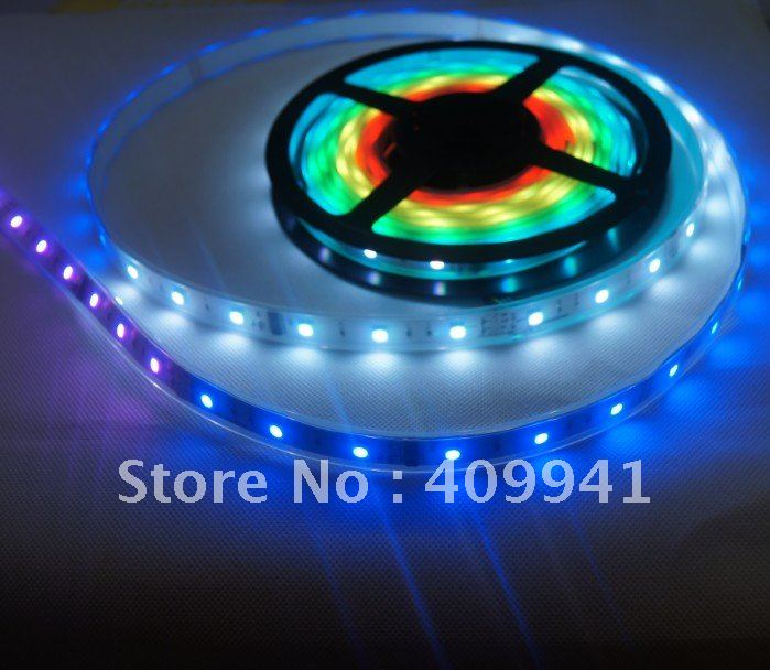 Free shipping LPD8806 Dream Color RGB SMD 5050 Flexible LED Strip Ribbon Rope Light kits 5 Meters with 36LEDs/M 12 Image Pixel(China (Mainland))