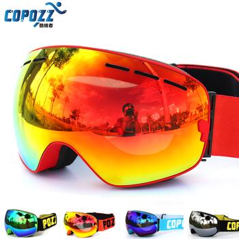 Новый COPOZZ марка UV400 анти-туман лыжные очки двойные слои большой лыжная маска очки лыжи мужчины женщины снег сноуборд очки GOG-201