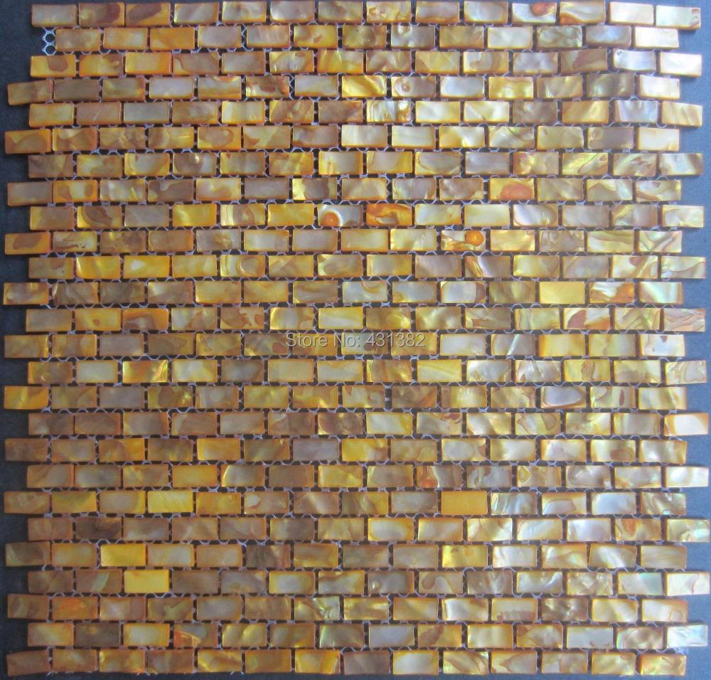 Здесь можно купить  2014 style HYRX sea flower shell mosaic-dye pale golden color  Factory direct sale decoration Material  Строительство и Недвижимость