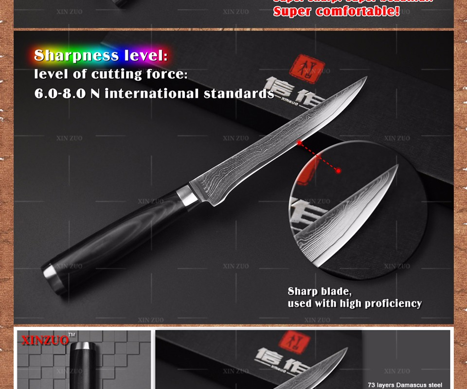 Buy 5.5 boning knife Japanese VG10 Damascus kitchen chef knives Utility Universal paring knife forged Micarta handle FREE SHIPPING cheap