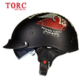 New arrive Torc T 55 retro motorcycle half face helmet vespa vintage helmets for men women