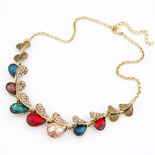 Min order is $15 fashion chunky pendant necklaces 2013 women body bib chain color crystal rhinestone jewelry-meilisa's shop(China (Mainland))