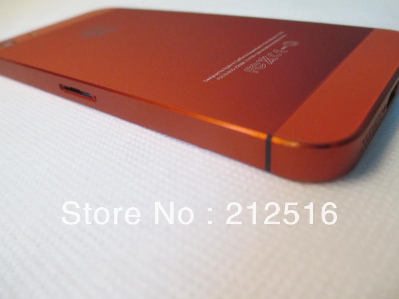whole orange metal housing iphone 5,good quality back iphone5 purple via HK post! - External Phone Accessories store