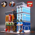 Lepin 15011 Parisian Creator Expert City Street Restaurant Building Kits Blocks 2262pcs Brick Toy Compatible With