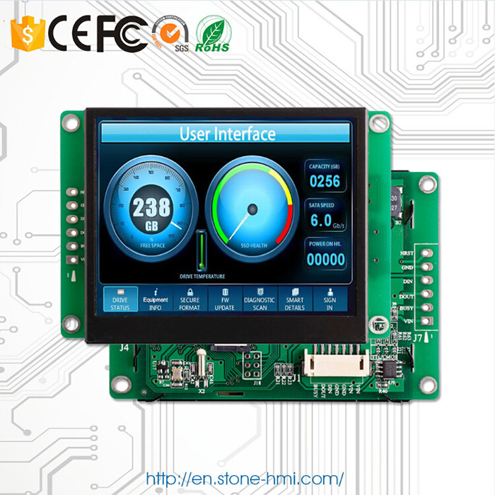 4.3 inch TFT LCD industrial HMI display WITH sd card(China (Mainland))
