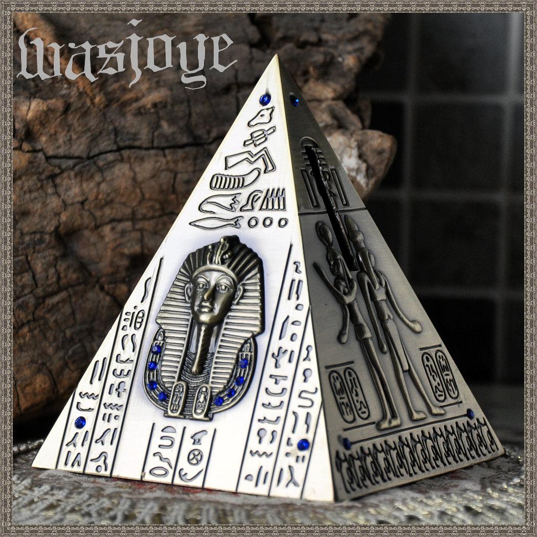 NEW Ancient Egypt Style Classic  Pyramid Mini Tin Piggy Bank Decoration Money Box Saving Pot Creative Gift Piggy banks (China (Mainland))