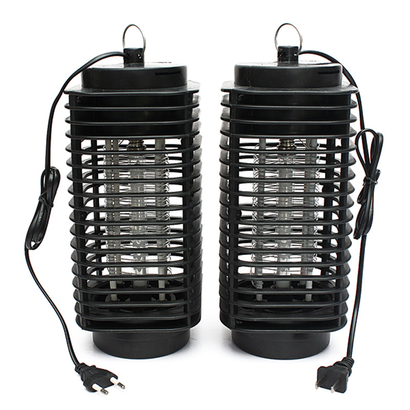 Black 110V/220V Electronic Mosquito Insect Killer Lamp LED Night Light Flying Insect Zapper Bug outdoor Pest Control P05(China (Mainland))