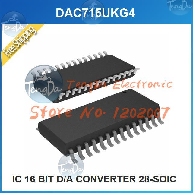 Free Shipping 1PCS/lot DAC715UKG4 IC 16 BIT D/A CONVERTER 28-SOIC 715 DAC715 DAC715U(China (Mainland))