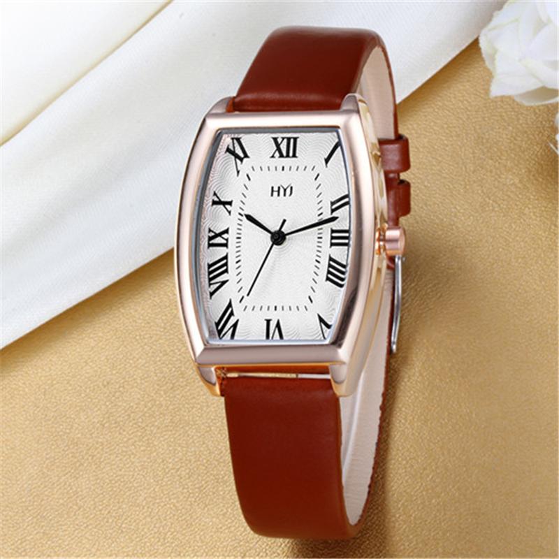 2016 HYJ Watches Women Luxury Brand Fashion Retro Leather Quartz Watch Women's Wrist Watches Relogio Feminino h341