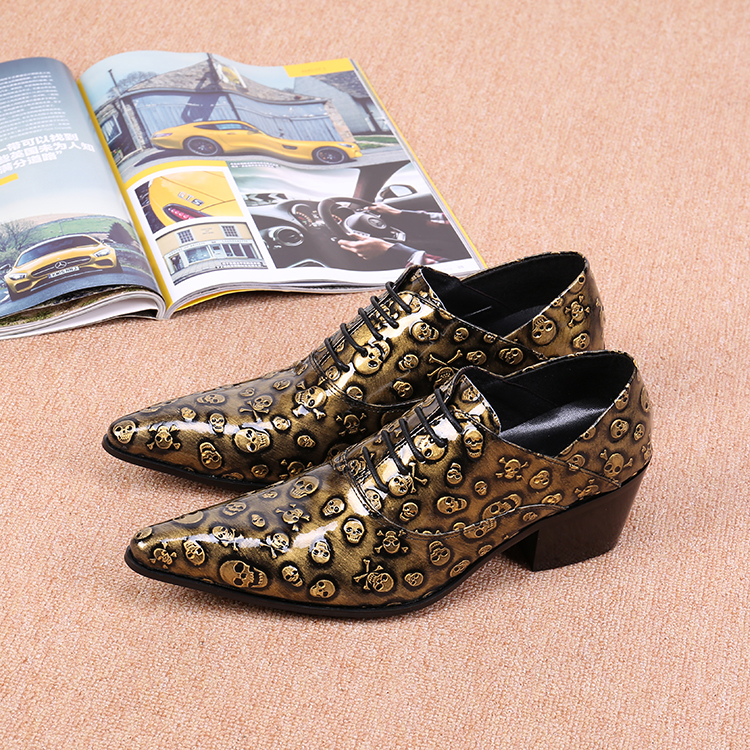 Фотография new top mens business dress brand design real full grain leather shoe men pointed toe casual fashion shoes sl16657