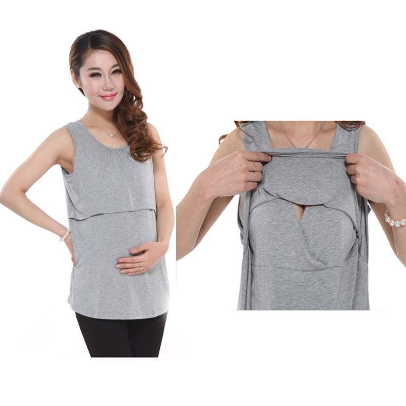 Modal maternity underwaist breastfeeding sundress at home dress clothes for pregnant women maternity clothing nursing tank top(China (Mainland))