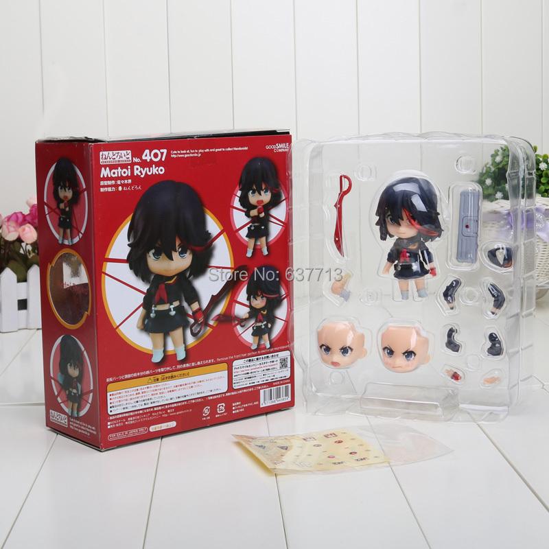 "Nendoroid 4"" Cute KILL la KILL Matoi Ryuuko #407 PVC Mini Action Figure Toy Doll(China (Mainland))"