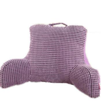 alitement oreiller pour regarder la t l vision et lire dans le lit si ge de coton coussin de dos. Black Bedroom Furniture Sets. Home Design Ideas