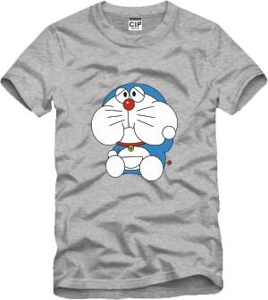 Doraemon fat face cute cat tee t shirt boy girls tshirt short sleeve t-shirt(China (Mainland))