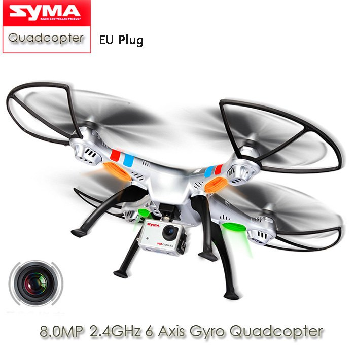 On Sale SYMA X8G Headless Mode 2.4GHz 6 Axis Wireless RC Quadcopter with 8.0MP Wide Angle HD Camera RTF RC Helicopter Drones Toy(China (Mainland))
