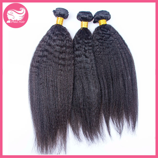 Prida Hair 6A Brazilian Kinky Straight Virgin Hair Weaves Bundles,100% Cheap Unprocessed Brazilian Human Virgin Hair Extensions